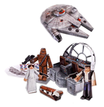 Star Wars Papercraft Figuren Set Millennium Falcon Vehicle Pack