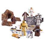 Star Wars Papercraft Figuren Set Escape Pod Desert Pack