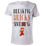 T-Shirt Super Mario -  Breaking Bricks Since '85 with Jumping Mario - L
