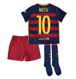 Trikot FC Barcelona 2015-2016 Home für Kinder Messi 10