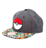 Pokemon Snap Back Hip Hop Cap Poke Ball