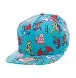 Pokemon Snap Back Hip Hop Cap Characters All Over