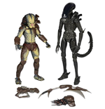 Alien vs. Predator Actionfiguren Doppelpack Renegade Predator vs. Big Chap Alien 18 cm
