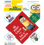 Minions Vinyl Sticker Pack (10) Keep Calm