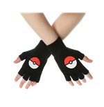 Pokemon Handschuhe (Fingerlos) Poke Ball