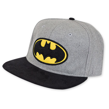 Kappe Batman mit Logo in grau.