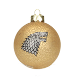 Game of Thrones Glas-Christbaumschmuck Stark