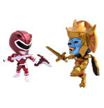 Mighty Morphin Power Rangers Action Vinyl Figuren Doppelpack Metallic Goldar vs Red Ranger 8 cm