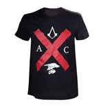 T-Shirt Assassins Creed ASSASSIN'S CREED Syndicate Erwachsene männliche Türme Rotkreuz Edition T-Shirt, extra groß, schwarz