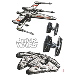 Star Wars Wandaufkleber Spaceships 100 x 70 cm
