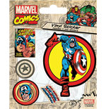 Marvel Comics Vinyl Sticker Pack Captain America (10)