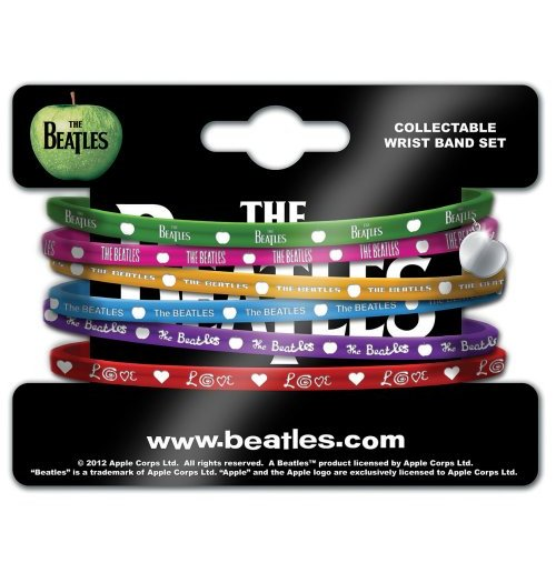 Armband Beatles - 6 Stuck aus Silikon. Beatles Apple