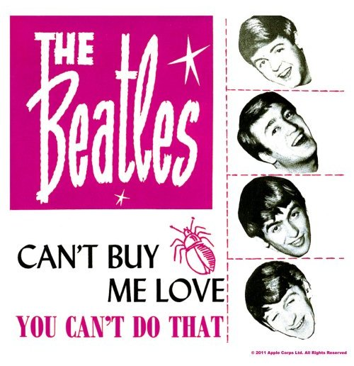Untersetzer Beatles - Can't Buy Me Love/You Can't Do That