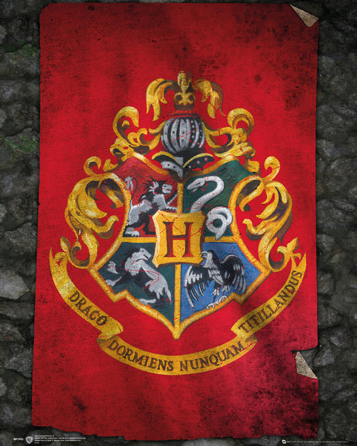 Poster Harry Potter Hogwarts Flag