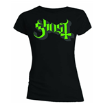 T-Shirt Ghost Skinny Fit: Green/Grey Keyline Logo für Frauen