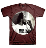 T-Shirt Bob Marley Smokin Circle