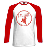 T-Shirt 5 Seconds of Summer - Frauen. Raglan/Baumwolle: Derping Stamp