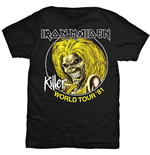 Iron Maiden T-Shirt für Männer - Design: Killer World Tour 81