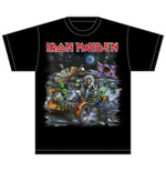 Iron Maiden T-Shirt für Männer - Design: Knebworth Moon buggy