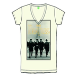 T-Shirt Beatles fur Frauen Eiffel Tower