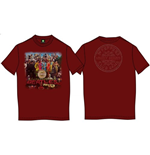T-Shirt Beatles Men's Back Print Tee: Sgt Pepper