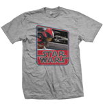 T-Shirt Star Wars Episode VII Dameron Vintage