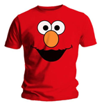 T-Shirt Sesam Strasse Elmo's Face Red