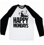 Happy Mondays  langärmeliges T-Shirt für Männer - Design: Logo