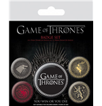 Game Of Thrones Ansteck-Buttons 5er-Pack Great Houses
