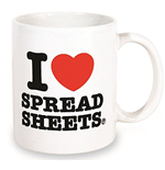 Tasse I love Spread Sheets