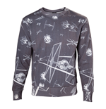 Sweatshirt Star Wars Imperial Fleet TIE Fighters All-Over Print - small