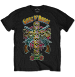 T-Shirt Guns N' Roses Skull Cross 80s