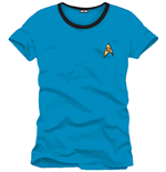 T-Shirt Star Trek Spock Blue Uniform