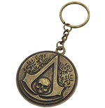 Schlüsselring Assassins Creed - Round Metall Crest & Skull