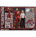 Iron Man 3 Movie Masterpiece Actionfiguren Doppelpack 1/6 Mark IX & Pepper Potts 30 cm
