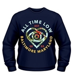 Sweatshirt All Time Low Vacation Heart