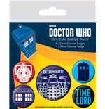 Doctor Who Ansteck-Buttons 5er-Pack Exterminate