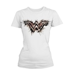 T-Shirt Wonder Woman: Splatter Logo