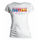 T-Shirt One Direction - Line Drawing für Frauen