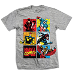T-Shirt Marvel Superheroes - Marvel Montage Grau
