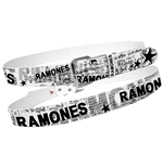 Gürtel Ramones - White with Full News Print Collage