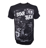 T-Shirt Star Trek  - Black Comic Book Cover