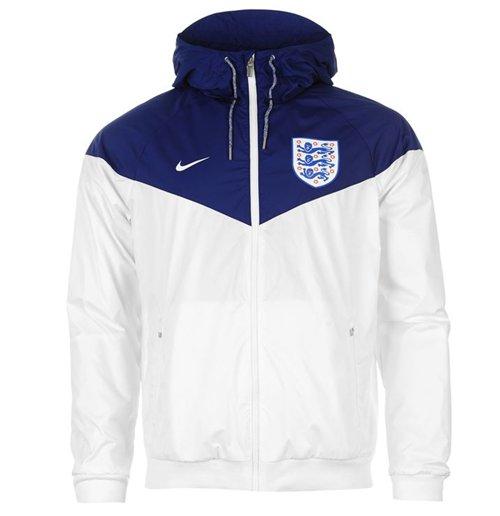 Jacke England Fussball 2016 2017 Nike Authentic Windrunner (Weiss)