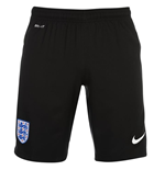 Shorts England Fussball 2016-2017 Nike Home fur Kinder (Schwarz)