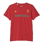 T-Shirt Portugal Fussball 2016-2017 (Rot)