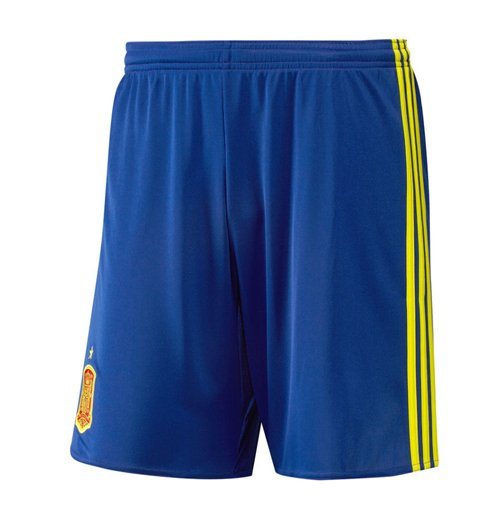 Shorts Spanien Fussball 2016-2017 Home Adidas (blau) fur Kinder