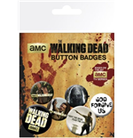 Set Broschen the Walking Dead