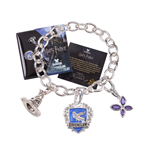 Harry Potter Bettelarmband Lumos Ravenclaw (versilbert)
