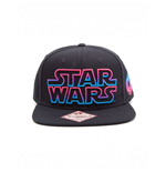 Star Wars Snap Back Hip Hop Cap Pink / Blue Logo