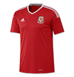 Trikot Wales Fußball 2016-2017 Adidas  Home